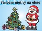 Vánoční motivy na okno