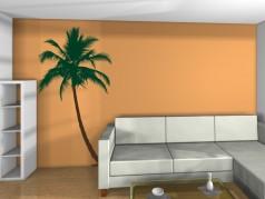 PokojovaDekorace.cz, Samolepky na zeď, Tropická-palma, barevná, 58x107cm