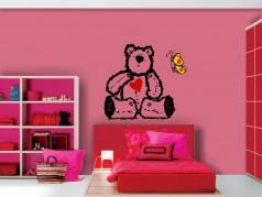 obrázek Veselé obrázky-06 Medvídek, Dětské samolepky na zeď