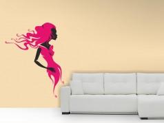 obrázek Dívka ve větru