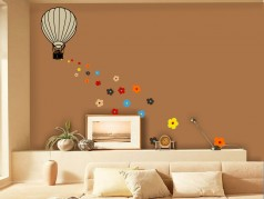 obrázek Květinový balón-01, Samolepky na zeď