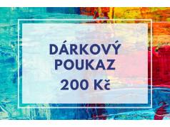 PokojovaDekorace.cz, Dárkové poukazy, Dárkový poukaz E-200, barevná, 20x9cm
