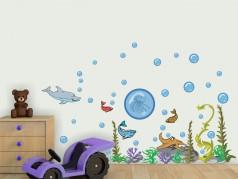 obrázek Dětské samolepky-04, Mořský svět