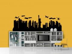 obrázek Siluety měst-09, Samolepky na zeď