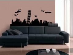 obrázek Siluety měst-11, Samolepky na zeď
