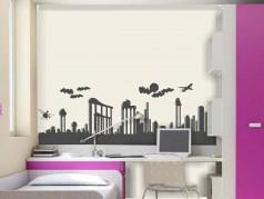 obrázek Siluety města-14, Samolepky na zeď