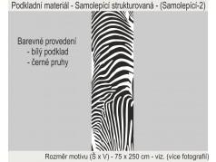 PokojovaDekorace.cz, Tapety, Tapety na zeď-A-001, černá, 75x250cm
