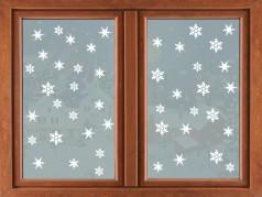 PokojovaDekorace.cz, Vánoční dekorace, Vánoční samolepky na okno-02, bílá, 33x96cm