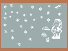 PokojovaDekorace.cz, Vánoční dekorace, Vánoční samolepky na okno-04, bílá, 60x40cm