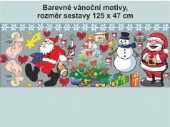 PokojovaDekorace.cz, Vánoční dekorace, Vánoční samolepky na okno-07, barevná, 125x47cm