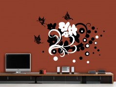 obrázek Kytky-42, Samolepky na zeď
