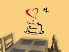 obrázek Káva-05, Samolepka na zeď