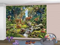 PokojovaDekorace.cz, Tapety, Walltastic-Zvířátka z lesa-43060, fototapeta, 304x243cm