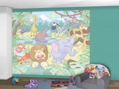 PokojovaDekorace.cz, Tapety, Walltastic Baby džungle-40595, fototapeta, 304x243cm