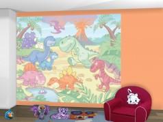 PokojovaDekorace.cz, Tapety, Walltastic Baby Dino-40618, fototapeta, 304x243cm