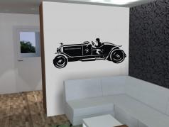 PokojovaDekorace.cz, Samolepky na zeď, Samolepka-Auto-1, černá, 105x40 cm