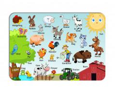 obrázek Dětské prostírání-070 - Angličtina-Farma