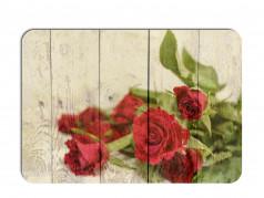 obrázek Prostírání - 500, Dřevo s květy růže