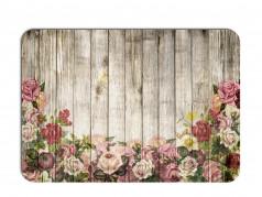 obrázek Prostírání - 501, Dřevo s květy růže