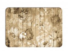 obrázek Prostírání - 504, Kytky na dřevě