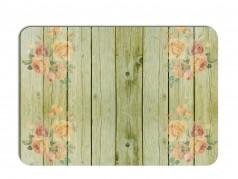 obrázek Prostírání - 505, Kytky na dřevě