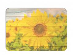 obrázek Prostírání - 506, Kytky na dřevě slunečnice