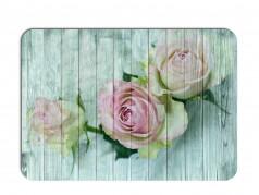 obrázek Prostírání - 507, Kytky na dřevě růže