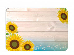 obrázek Prostírání - 508, Kytky na dřevě slunečnice