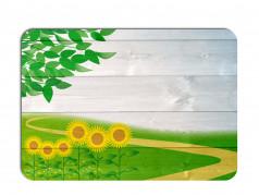 obrázek Prostírání - 509, Kytky na dřevě slunečnice