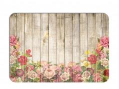 obrázek Prostírání - 514, Kytky na dřevě růže