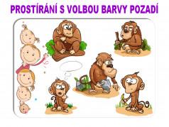 obrázek Dětské prostírání - 079, Opice