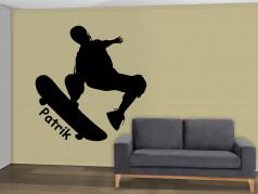 obrázek Silueta Skateboarding - 02, Samolepky na zeď