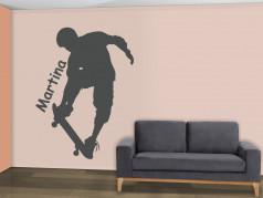 obrázek Silueta Skateboarding - 03, Samolepky na zeď