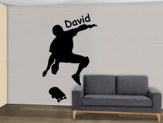 obrázek Silueta Skateboarding - 04, Samolepky na zeď