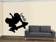 obrázek Silueta Skateboarding - 05, Samolepky na zeď