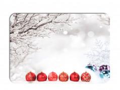 obrázek Vánoční prostírání - 172, Červené ozdoby