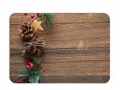 obrázek Vánoční prostírání - 177, Dřevo a ozdoby