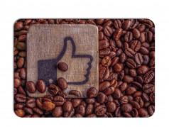 obrázek Prostírání - 460, Kávová zrna s palcem