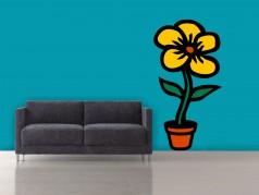 obrázek Květina-01, Samolepky na zeď