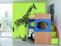 obrázek Žirafa - 02, Samolepky na zeď