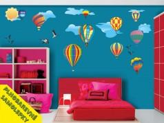 obrázek Balóny-02, Samolepky na zeď