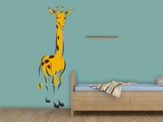 PokojovaDekorace.cz, Samolepky na zeď, Žirafa-06, žlutá, 32x95 cm