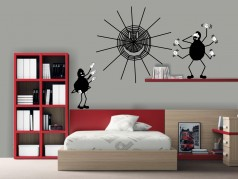 obrázek Samolepky na zeď - Pavouci-01