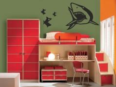 obrázek Žralok a rybičky, Dětské samolepky na zeď