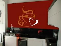 obrázek Dekorace na zeď Káva-02, Samolepka na zeď