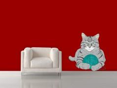 obrázek Kočka-06, Samolepky na zeď