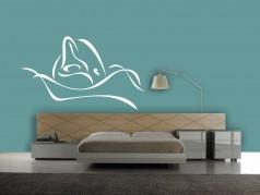 obrázek Silueta Delfína - 18, Samolepky na zeď