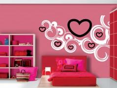 obrázek Srdce ve vlnách, Samolepka na zeď