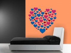 obrázek Srdce v srdci, Samolepka na zeď